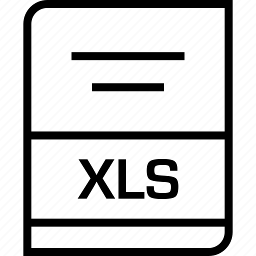 document, extension, xls icon