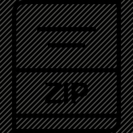 document, extension, zip icon