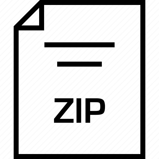 document, extension, zip icon