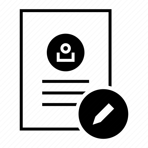 account, details, document, edit, modify, profile, user icon