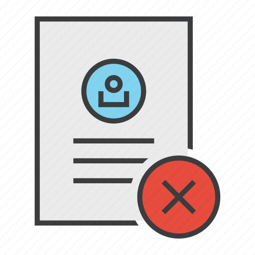 Account, cancel, details, document, profile, reject, user icon - Download on Iconfinder