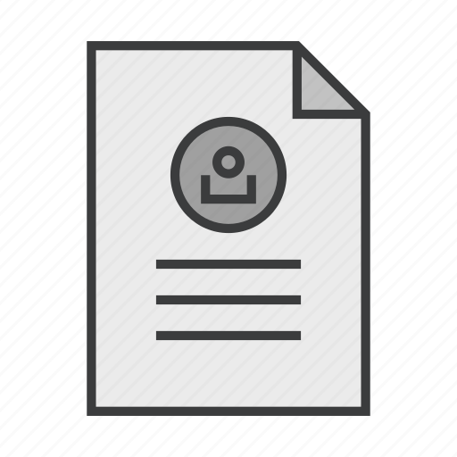 account, details, document, form, profile, resume, user icon