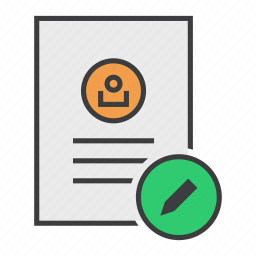 Account, details, document, edit, modify, profile, user icon - Download on Iconfinder