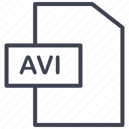 avi, document, documents, file, format, video icon