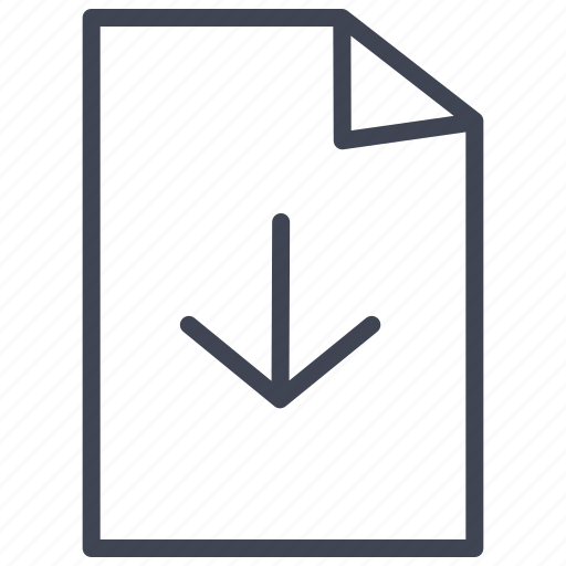 arrow, document, documents, down, download, file icon
