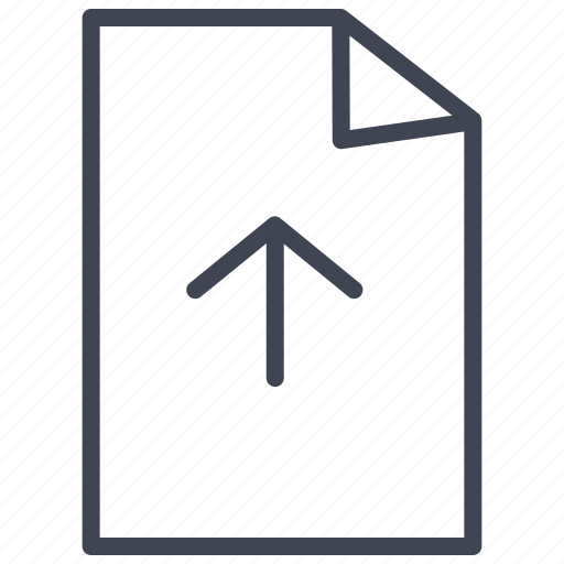 arrow, direction, document, documents, file, up, upload icon