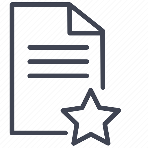 bookmark, documents, favorite, file, format, star icon