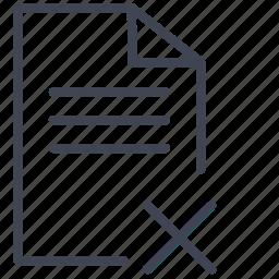 cancel, delete, document, documents, remove icon