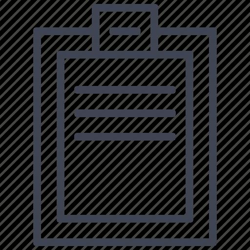 checklist, clipboard, document, documents, file, list icon