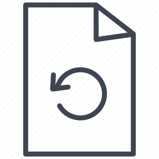 arrow, document, documents, file, format, refresh icon