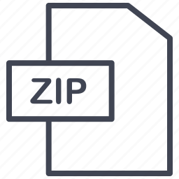 document, documents, extension, file, format, zip icon