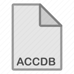 accdb, document, extension, file, format, hovytech, type icon