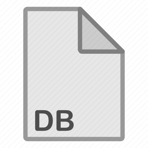 db, document, extension, file, format, hovytech, type icon