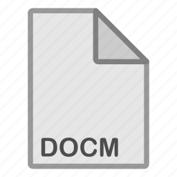 docm, document, extension, file, format, hovytech, type icon