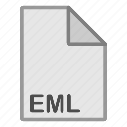 document, eml, extension, file, format, hovytech, type icon