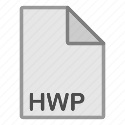 document, extension, file, format, hovytech, hwp, type icon