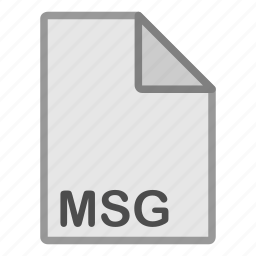 document, extension, file, format, hovytech, msg, type icon