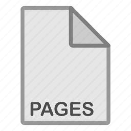 document, extension, file, format, hovytech, pages, type icon