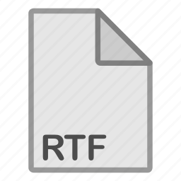 document, extension, file, format, hovytech, rtf, type icon