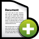 add, create, document, file icon