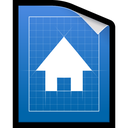blueprint, document, plan icon