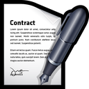 contract, document, edit, write icon