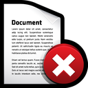 delete, document icon