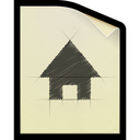 document, file, plan, sketch icon