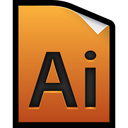 adobe, file, illustrator icon