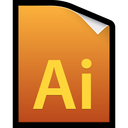 adobe, cs5, file, illustrator icon