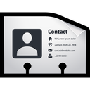 card, contact, name, vcf icon