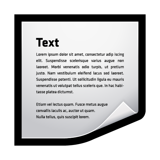 clip, clipping, text, word icon