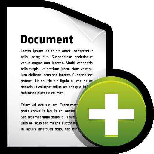 add, create, document, file icon
