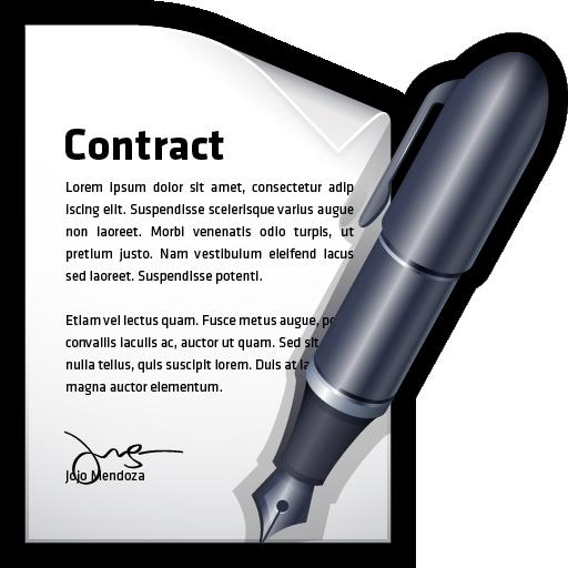 contract, document, edit, write icon