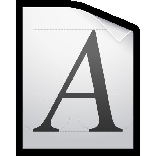 document, font, otf, ttf, type icon