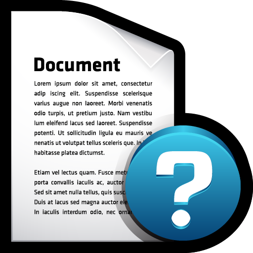 alert, document, file, help icon