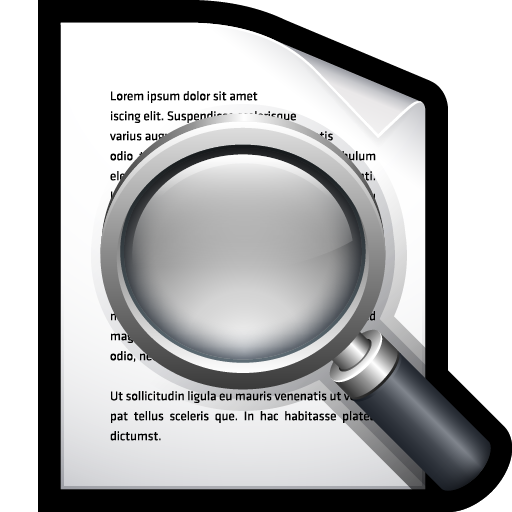 document, find, preview, search icon