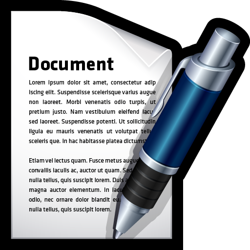 document, file, word, write icon