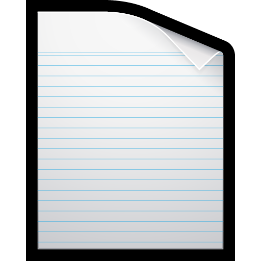blank, document, paper, writing icon