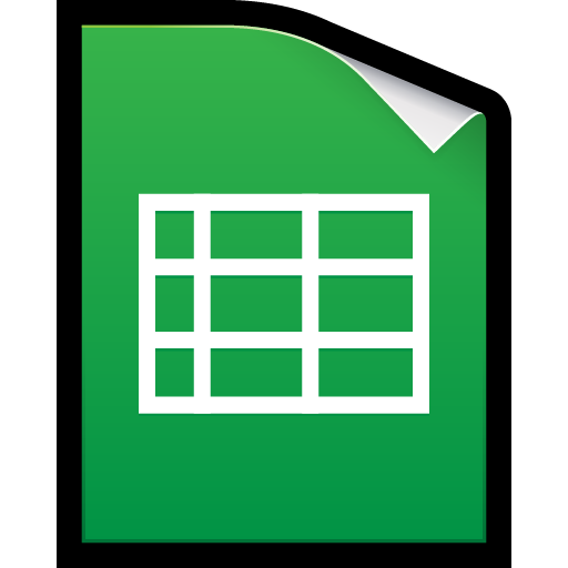 docs, google, spreadsheet, xls icon