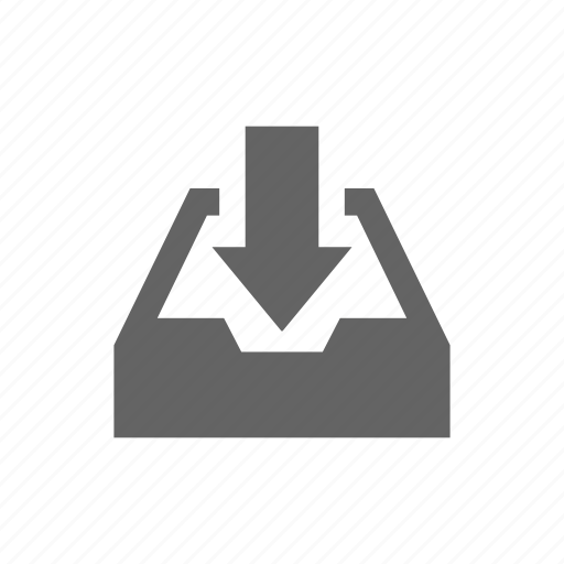 arrow, document, in, tray icon