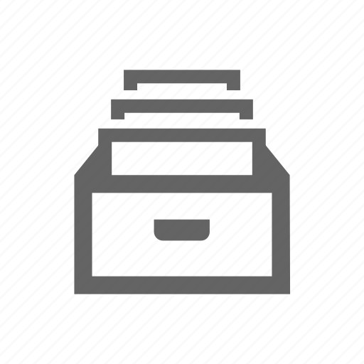 archive, box, doc, document, paper, storage icon