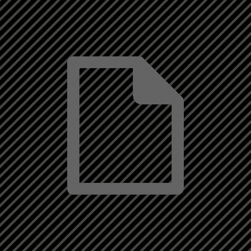 document, file, new, paper, script icon