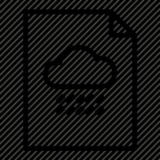 document, file, page, paper, raincloud, sheet, sheets icon
