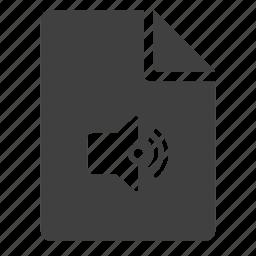 doc, document, dynamic, hear, listen, mp3, music icon