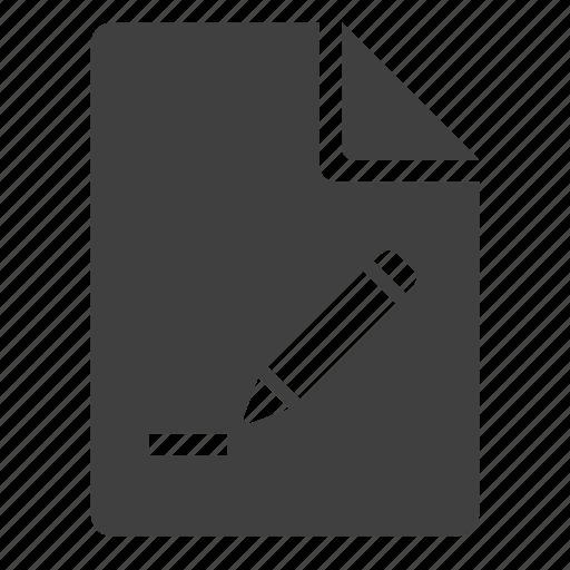 Create, doc, document, edit, new, pen, pencil icon | Icon ...