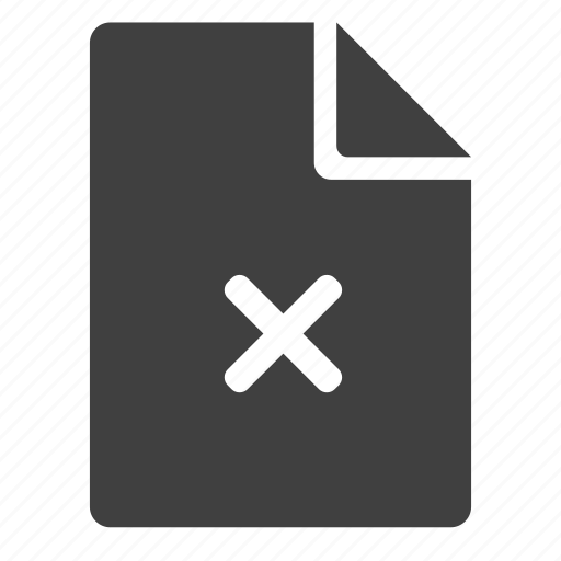 cancel, delete, document, lock, page, remove, unavailable icon