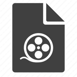 avi, document, film, movie, mpeg, page, video icon