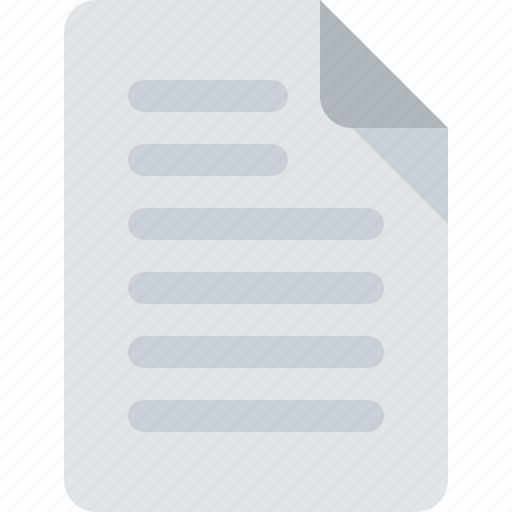 document, file, office, text file icon