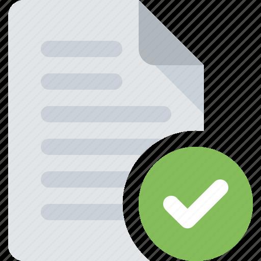 check, document, file, success icon